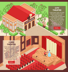 theatre banners set vector image