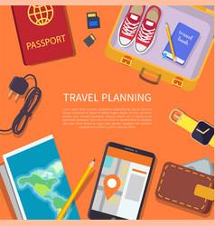 travel planning headline vector image