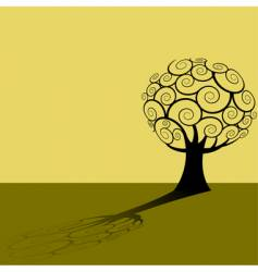 tree shadow background vector image