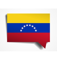 Venezuela flag paper 3d realistic speech bubble on vector