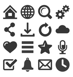 web icon set on white background vector image