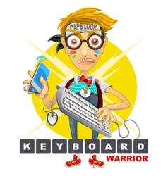 Cyberbully Nerd Geek Keyboard Warrior vector image vector image