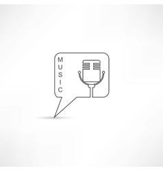 Mic into speech bubble vector image vector image