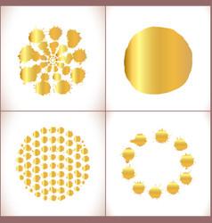 paint splashes set gold paint stain vector image