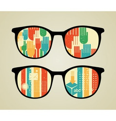 Patterned Glasses vector image vector image