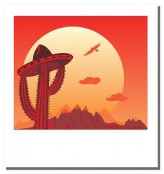 photo frame go Mexico vector image