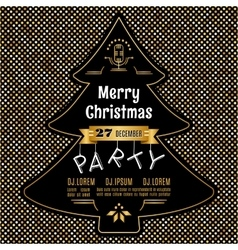 Christmas party poster abstract gold and vector image vector image