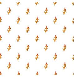 Circus dog pattern vector