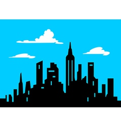 Graphic Style Cartoon City Skyline vector image
