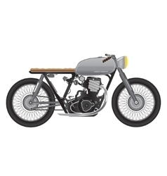 Old vintage motorcycle metallic color cafe racer vector image vector image
