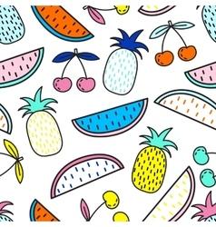 seamless pattern of Fruits Summer mood vector image vector image