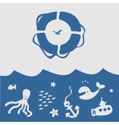 Set of Symbol Sea vector image vector image