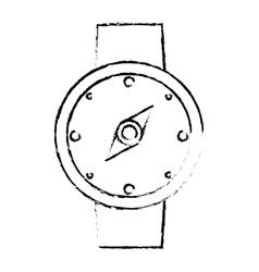compass location gps travel sketch vector image
