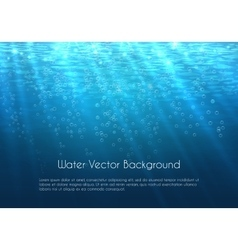 Deep blue water background with bubbles vector