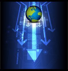 Globe digital future technology vector