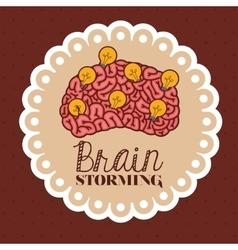 human brain design vector image vector image