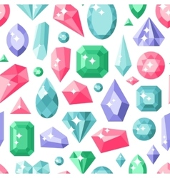 Jewelry stones seamless pattern expensive vector image