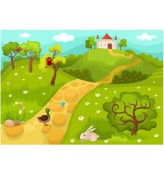 landscape card vector image vector image