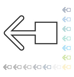 Pull left icon vector