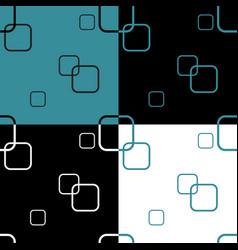 seamless pattern with four colored square vector image