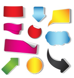 sticker and tag collection vector image vector image