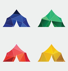 tent boat icon Abstract Triangle vector image