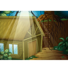 A house in the woods vector image vector image