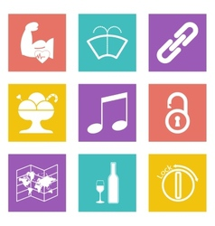 Color icons for Web Design set 48 vector image vector image