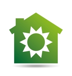 green ecology sun warming symbol design vector image