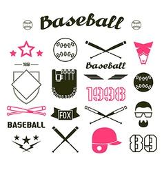 Icons Baseball team vector image