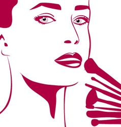 Make-up woman vector image vector image