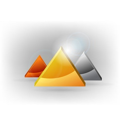 three triangles vector image vector image