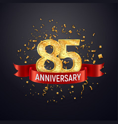 85 years anniversary logo template on dark vector image