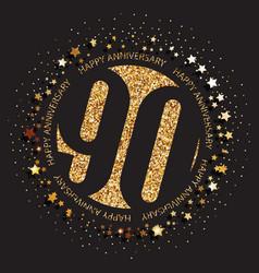 90th birthday logo vector