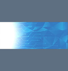 Abstract blue technology circuit lines background vector
