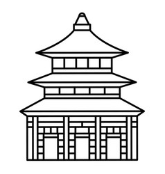 asia temple icon outline style vector image