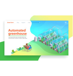 automated greenhouse future farming technology vector image
