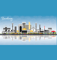 Bandung indonesia city skyline with gray vector
