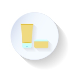 Bath cream and balm flat icon vector image