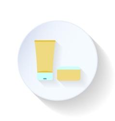 Bath cream and balm flat icon vector