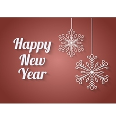 Beautiful elegant text design of happy new year vector image