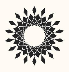 black abstract circle frame vector image