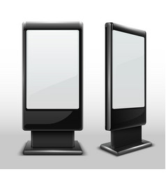 Blank interactive outdoor kiosk digital tv vector