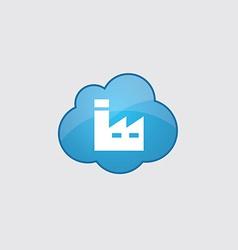 Blue cloud factory icon vector image vector image