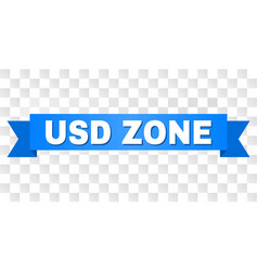 Blue ribbon with usd zone caption vector