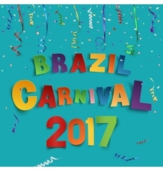 Brazil carnival 2017 background vector