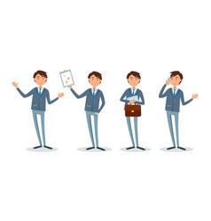 businessman showing presentation plan on paper vector image