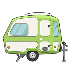 camping trailer icon holiday home for travel vector image