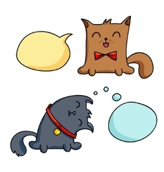 Cat character vector image