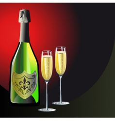 Champagne background vector